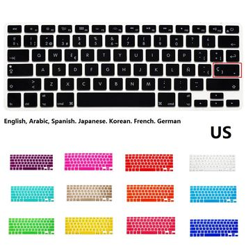 Silicone US keyboard Case Cover Protector for MacBook Air 13 inch Pro Retina 13 15 inch
