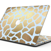 Gold Flaked Animal Light Blue - MacBook Pro with Retina Display Full-Coverage Skin Kit
