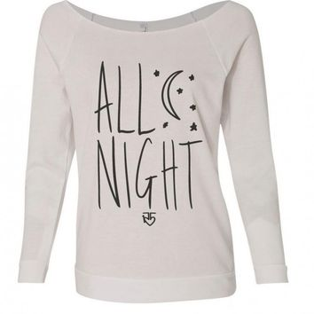 All Night Moon and Stars Long Sleeve T-Shirt | R5 Rocks