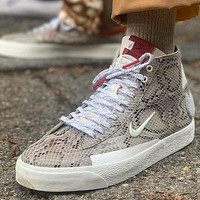 Soulland x Nike SB Blazer FRI.day joint skateboard shoes python