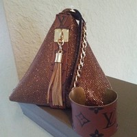 Designer Inspired LV Mini Clutch