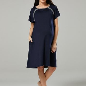 Jersey Pocket Labor & Delivery  Gown