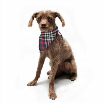 "KESS Original ""Red And White Plaid"" Red White Pattern Digital Pet Bandana"