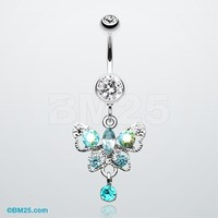 Butterfly Gleam Belly Button Ring
