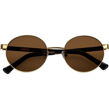 Supreme: Tunnel Metal Sunglasses - Gold