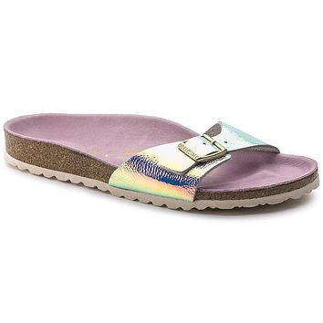 Birkenstock Madrid Leather Ombre Pearl Silver Orchid 1003847 Sandals