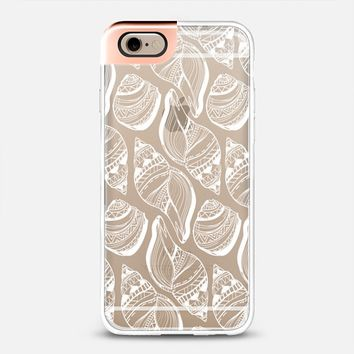 Clear White Patterned Seashells iPhone 6 case by Talia Gavish | Casetify