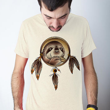 Spirit Sloth, sloth tshirt, slothzilla, dream catcher, Mens S-2XL Available