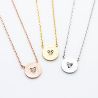 Heart stones necklace