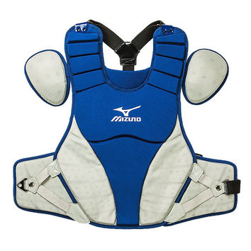 "Mizuno Samurai 15"" Chest Protector Intermediate - Royal Gray"