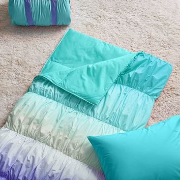 Sunset Ombre Sleeping Bag + Pillowcase, Cool