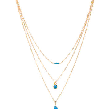 Mimi & Lu Chelsea Necklace in Blue Turquoise