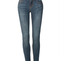 LE3NO Womens Premium Mid Rise Skinny Denim Jeans with Pockets