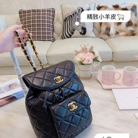 160 Fashion Classic Chain Flap Quilted Backpack 22-20-11cm