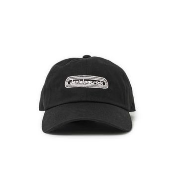 track cap / black + white