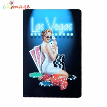 Casino painting Tin Sign Bar pub home Wall Decor Retro Metal Art Poster CA005