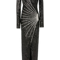Crystal-Embellished Lamé Gown | Moda Operandi
