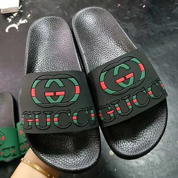 GUCCI Woman Men Fashion Slipper Flats Shoes
