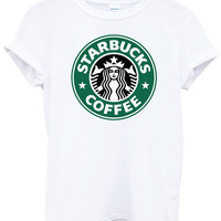 Starbucks Coffee Hipster Tumblr White TShirt Top by HipstaaLou