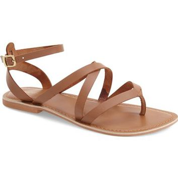Topshop 'Hercules' Strappy Leather Thong Sandal (Women) | Nordstrom