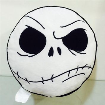 100% official Nightmare Before Christmas Jack Skellington Pillow Double Face Plush Cushion Car Home Decoration for Gifts