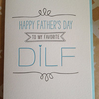 DILF Father's Day Card Letterpress by jdeluce on Etsy