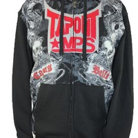 Tapout (Tap Out MMA) MPS Mens Zip Up Hoodie - Caus BellI Ornate Swirl Image on Black