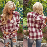 Women's Fashion Stylish Plaid Tops Hats [6338691588]