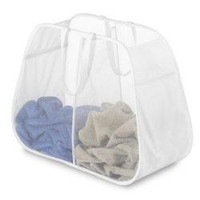 Pop Fold Double Hamper White