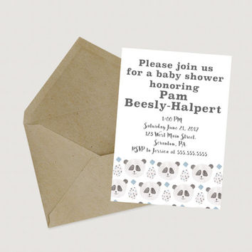 Printable Panda Baby Shower Invitation // Download Baby Shower Invites // Gender Neutral Baby Shower Invitations