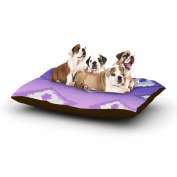 "Alison Coxon ""Purple Ombre Ikat "" Lavender White Dog Bed"