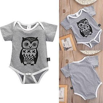 Cotton Baby Girl Boy Clothes Owl Baby Clothing Summer Cotton Baby Bodysuits For Boys Girls Clothes