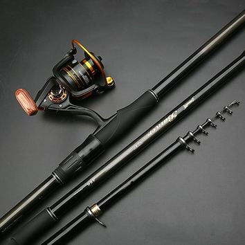 High Quality Fishing Rod with Drum Reel Super Hard Telescopic Fishing Rod Light Rock Fishing Rod Portable Sea Fishing Hand Rod