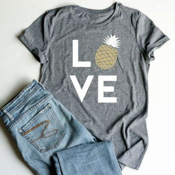 Love - Pineapple - Women's Novelty T-shirt