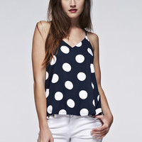 Polka Dots Print Tank Top
