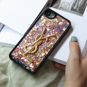One-nice™ YSL quicksand Shining iPhone Phone Cover Case For iphone 6 6s 6plus 6s-plus 7 7plus