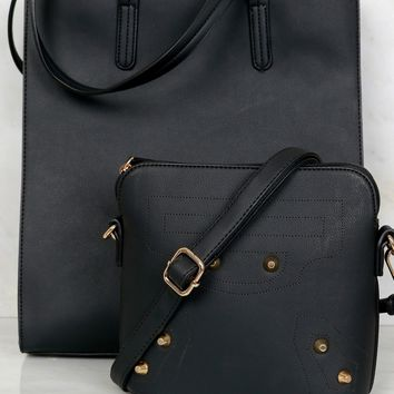 Classic Tote Bag Set Black