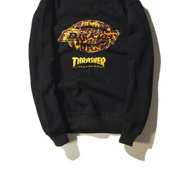 DCK4S2 THRASHER Winter Unisex Hip-hop Fashion Sweatshirt [103837040652]