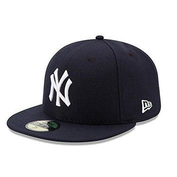 New Era Mens New York Yankees MLB Authentic Collection 59FIFTY Cap