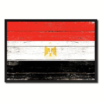 Egypt Country National Flag Vintage Canvas Print with Picture Frame Home Decor Wall Art Collection Gift Ideas