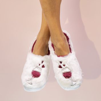 Wine A Little Classic Slippers by Faceplant Dreams