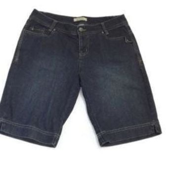 NATURAL REFLECTIONS Stylish Womens Bermuda Jeans Jean Shorts Size 8