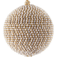 Pearl Rhinestone Ball Ornament - Set of Six