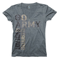 Army Black Knights Women's Go Girl Ringspun V-Neck T-Shirt