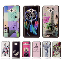 Ultra Thin Cartoon Hard Cover For Samsung Galaxy Core 2 G355H G3556 G3556D G3559 Colorful Printing Plastic Back  Phone Case