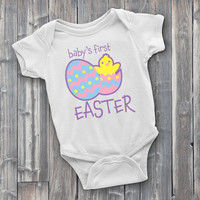 Baby's First Easter, Easter Onesuit, Easter Bodysuit, Spring Onesuits, Gifts for Baby Shower, Spring Baby Clothes, Cute Onesuit, Cute Clothes