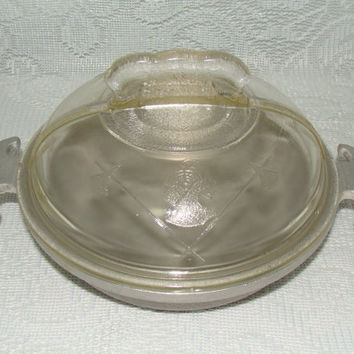 Vintage Cookware Guardian Service Covered Casserole Pan Hammered Aluminum  Metal Durable Heavy Duty 1940s 1950s
