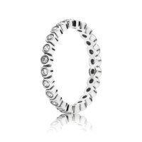 Alluring Petite Brilliant Stackable Ring, Clear CZ