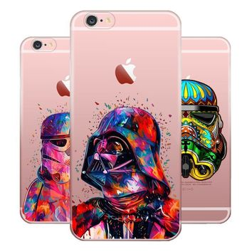 Darth Vader Dynamic Art Transparent Silicone Cases for iPhone