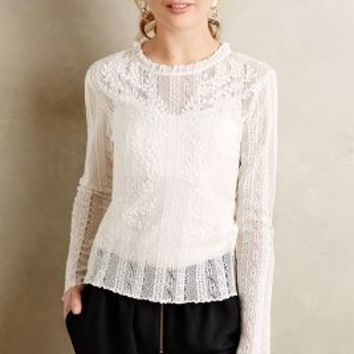 Amandine Embroidered Top by Vanessa Bruno Athe Ivory